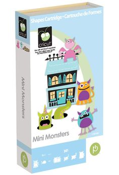 Mini Monsters Cricut Cartridge Linked to by CraftCommandCenter, $20.00