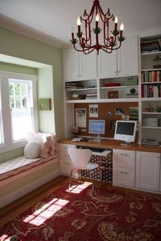 Eclectic Home Office Photos Craft Room Design, Pictures, Remodel, Decor and Ideas - page 37