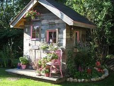 She Shed she shed catskills mountains tiny spaces urban design interior design repurposed sheds shed designs cottage design cottages ny Barbara Techel Sandra Foster cotta. Shed Design, Garden Design, Garden Cottage, Home And Garden, Backyard Cottage, Garden Art, Farmhouse Garden, Terrace Garden, Cozy Cottage