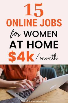 Looking for top online jobs for women? Ready to work from home? Check out this list of 15 high paying stay at home jobs for moms and housewives. Make Money Today, Earn Money From Home, Way To Make Money, Make Money Online, Legit Work From Home, Legitimate Work From Home, Work From Home Tips, Work At Home Jobs, Work From Home Canada