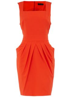 Orange drape pocket dress  I love the style and the vibrant colour, need it in my closet!