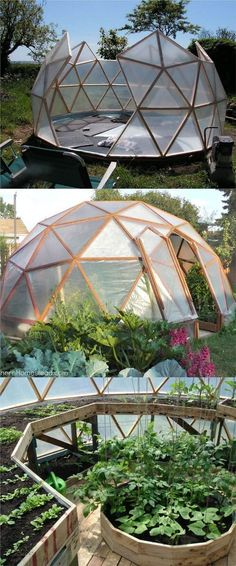 "21 DIY Greenhouses with Great Tutorials: Ultimate collection of THE BEST tutorials on how to build amazing DIY greenhouses, hoop tunnels and cold frames! Lots of inspirations to get you started! - A Piece of Rainbow Find more in board ""Garden"" on"