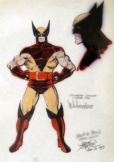 jthenr-comics-vault:    Proposed Wolverine Costume by John Byrne