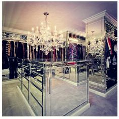I want the mirrored furniture !.. Along with the huge closet !