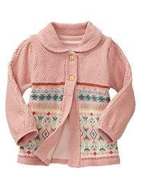 Fair Isle swing jacket