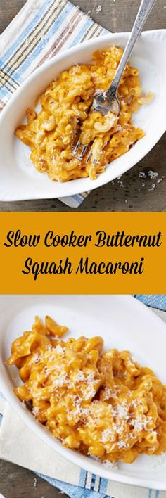 Slow Cooker Butternut Squash Macaroni is a wonderful side for Thanksgiving or anytime you are craving creamy mac 'n' cheez.