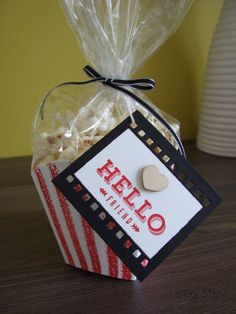 Stampin' Up! Fry Box Die - Popcorn Box - Movie Night Fun - On Film Framelits - Stamping With Val - Valerie Moody; Independent Stampin' Up! Demonstrator. X