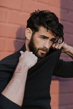 Hair Styles For Men style black hair with hair gel, medium long hair, modern mens hairstyles Haircuts For Curly Hair, Black Curly Hair, Short Curly Hair, Haircuts For Men, Guys With Curly Hair, Layered Haircuts, Guys With Black Hair, Boy Haircuts Long, Hipster Hairstyles