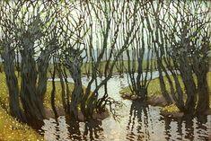 Willow by the strem, Panuška Jaroslav. Czech (1872 - 1958)