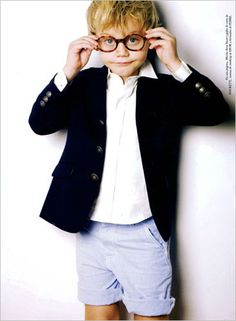 I want a little boy to dress in adorably preppy outfits.