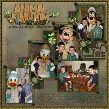 Donald's Safari Breakfast - MouseScrappers - Disney Scrapbooking Gallery