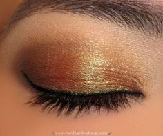 Brown & Gold...classic eye look