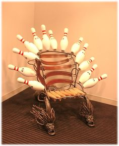 """Strike Chair""  collaboration with Johnny Swing / JJ Veronis."
