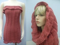 All In One Knit and Crochet Reversible Dress Beach by yarnnscents, $35.00