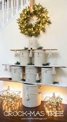crock Christmas tree