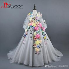 Cheap designer flower girl dresses, Buy Quality flower girl dresses directly from China flower girl dresses long Suppliers: 2017 New Collection Amazing V-neck Long Puffy Sleeves Handmade Flowers Lace Princess Flower Girl Dress Long Sleeve Hot Design White Pageant Dresses, Little Girl Pageant Dresses, Princess Flower Girl Dresses, Girls White Dress, Lace Flower Girls, Prom Girl, Girls Dresses, White Girls, Party Dresses