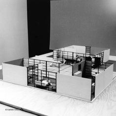 Charles & Ray Eames // Toy House // 1959 // prototype for modular units designed for horizontal and vertical combination