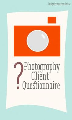 Instead of trying hard to figure out what kind of style will be best for your client, a photography client questionnaire will help you get a better understanding of your client's needs, their style, and what they're really looking for.