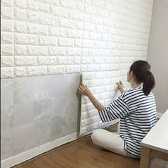 Waterproof 3D Brick Wall Sticker Self-adhesive Panel Decal Wall Sticker Embossed | Home & Garden, Home Improvement, Building & Hardware | eBay!