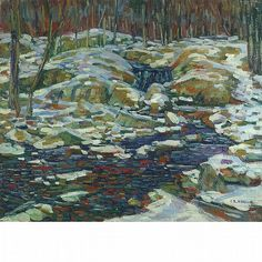 """""""Snowy Woodland,"""" Charles Salis Kaelin, oil on canvas, 24 x 28 1/8"""", private collection."""