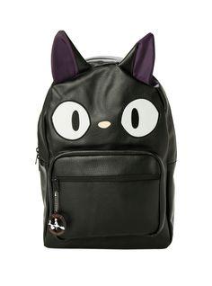 Studio Ghibli Kiki s Delivery Service Jiji Character Backpack   Hot Topic  Cute Bags, Faux Leather 6735f2475a
