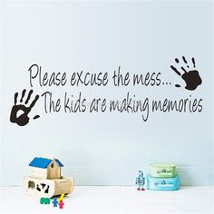Cheap art wall sticker, Buy Quality sticker wall art directly from China art nail sticker Suppliers: Making Memories vinyl wall sticker home decor creative quote wall decals kids room removable cartoon wall Art&n