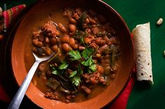 Mexican Charro (Cowboy) Beans with A Twist by @SpicieFoodie | #beans #stew #spicy #LonganizaSausage