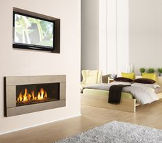 modern fireplaces with tv - Google Search