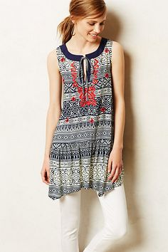Embroidered Natal Tunic #anthropologie
