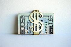 Money Clip  Vintage Dollar Sign  Mens Fashion  by SPARKLEFARM, $15.00