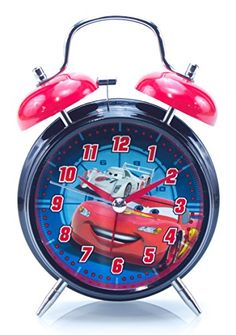 DisneyPixar Cars Twin Bell Alarm Clock Lightning McQueen *** Click image to review more details. (Note:Amazon affiliate link) #HomeGadgets