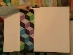 ▶ Easy Strip-Pieced Tumbling Blocks, Marci Baker of Alicia's Attic - YouTube