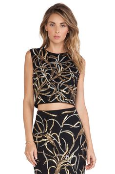 Antik Batik Madura Sequin Top in Black