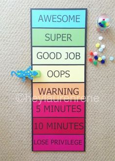 this behavior chart, especially once tweeked some for Emmy's age. Also love the pom pom reward system.Love this behavior chart, especially once tweeked some for Emmy's age. Also love the pom pom reward system. Good Behavior Chart, Home Behavior Charts, Behavior Rewards, Kids Rewards, Behaviour Chart, Behavior Management, Classroom Management, Reward System For Kids, Reward Chart Kids