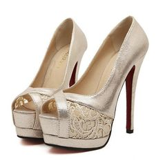 High heels for prom pretty sequin decorated pump