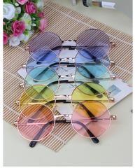 500dd3e94f Round Sunglasses Golden Frame Glasses Shades Hippie Lennon Ozzy 60s 70s  Vintage Steampunk Unisex Electric Sunglasses