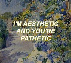 aesthetic and pathetic