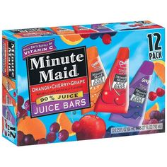 It wasn't minute maid brand but we used to have these in elementary school. Orange and cherry were the best. Bad Room Ideas, Junk Food Snacks, Grape Juice, Food Goals, Delicious Fruit, Unique Recipes, Frozen Treats, Jelly Beans, Food Cravings
