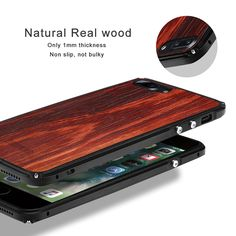"""HOT PRICES FROM ALI - Buy """"Showkoo Natural Wood Phone Case For iPhone 7 Plus 7 6 Plus original wood+ Metal Frame perfect Integrated phone cover Case New"""" from category """"Phones & Telecommunications"""" for only USD. Iphone 7 Plus, Wooden Phone Case, Iphone Models, Phone Cover, Wood And Metal, Iphone Cases, Iphone 8, 6s Plus, Natural Wood"""