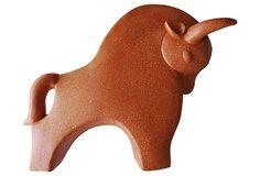Midcentury Ceramic  Bull on OneKingsLane.com