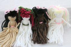Girls Party Favors Yarn Dolls - Set of Five. $29.95, via Etsy.