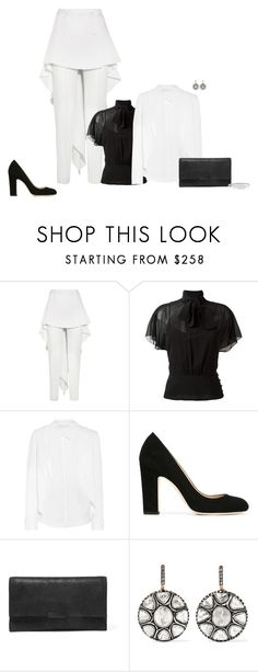 """""""Untitled #1433"""" by biancateicu ❤ liked on Polyvore featuring Antonio Berardi, RED Valentino, Jimmy Choo, Loeffler Randall, Amrapali and Stephen Webster"""