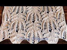 Baby Knitting Patterns, Knitting Stiches, Knitting Videos, Crochet Stitches Patterns, Lace Knitting, Knitting Designs, Knitting Projects, Stitch Patterns, Knit Crochet