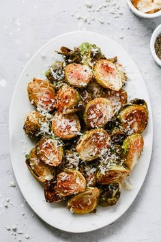 Garlic Parmesan Roasted Brussels Sprouts