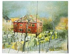 Red House By Peter Doig ,1995 -  1996