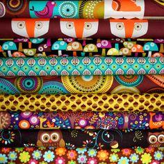 Half Yard Bundle with 2 Panels  - NORWEGIAN WOODS - Michael Miller Fabrics - 9 pcs