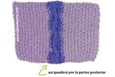 trenza tejida en dos colores de lana