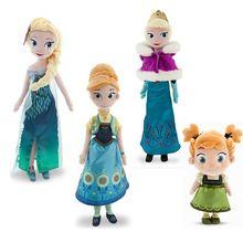 40 cm de Elsa Anna Boneca 30 cm Boneca Peluche da criança macio brinquedos de pelúcia princesa rainha juguetes Olaf Elsa e Anna Dolls(China (Mainland))