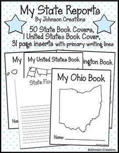 My State Reports By Johnson Creations - Johnson Creations - TeachersPayTeachers.com