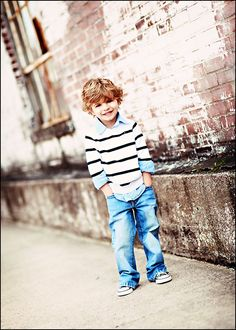 boy outfit: Love the converse, just like his dad!